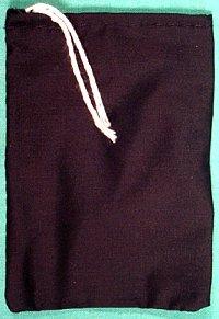 "Black Cotton Bag 3"" X 4"""
