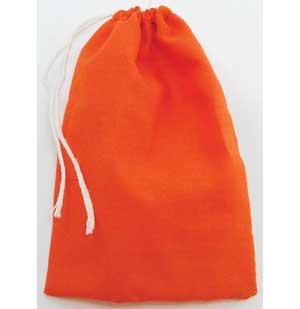 "Orange Cotton Bag 3"" X 4"""