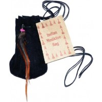 "3"" Medicine Dream Bag Black"