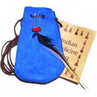 "3"" Medicine Dream Bag Blue"