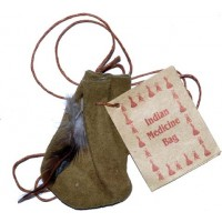 "3"" Medicine Dream Bag Olive Green"