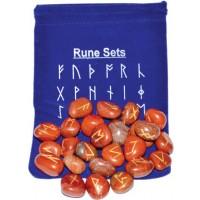 Red Jasper Rune Set