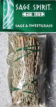 "Sage & Sweetgrass Smudge Stick 5"""