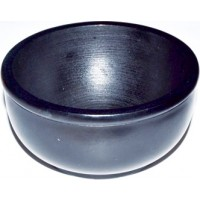 "Black Stone Scrying Bowl 4"""