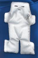"White Voodoo Doll 5"""