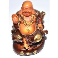 "5 1-2"" Laughing Buddha On Money Bag"