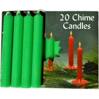 "1-2"" Emerald Green Altar Candle 20 Pack"