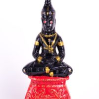 "LP Komol : 12"" wood Phra Ngang statue - THAI VOODOO for love & money luck"