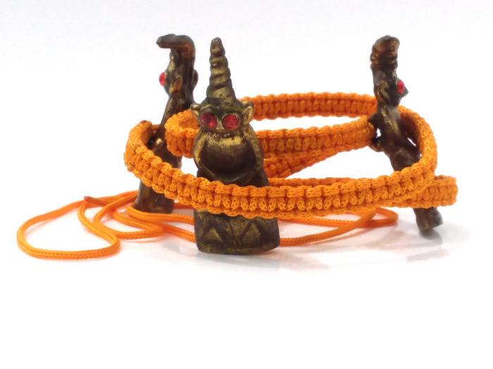 LP Phu Som : Phra Ngang monk's belt - THAI VOODOO for love & money luck