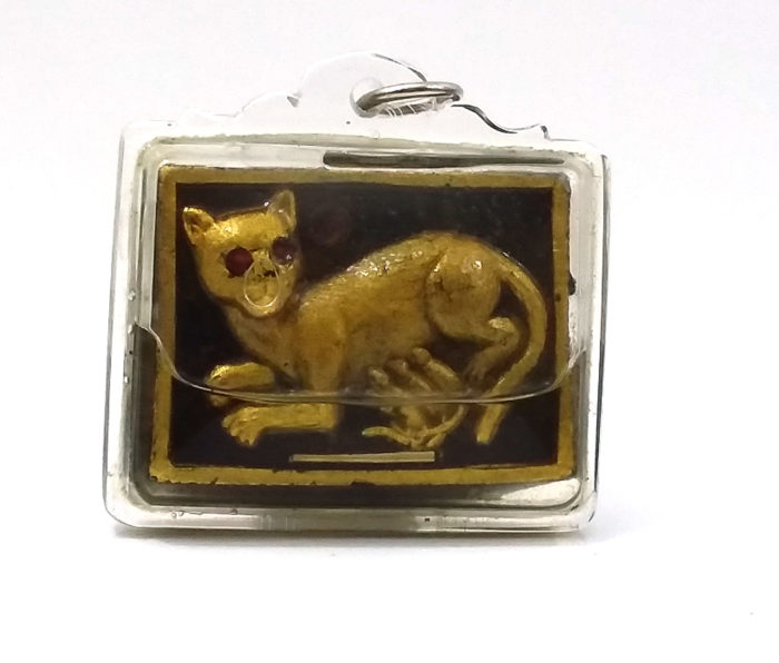 LP Phan : Cat Suckling Mice amulet - THAI VOODOO for love & money luck