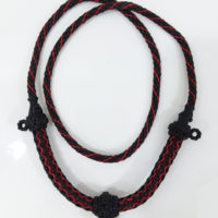 Thick and strong wax cord Thai necklace for 3 amulets 1