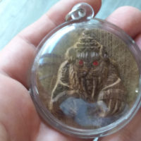 LP Somchai : sacred wood Tiger amulet - THAI VOODOO for health & attraction