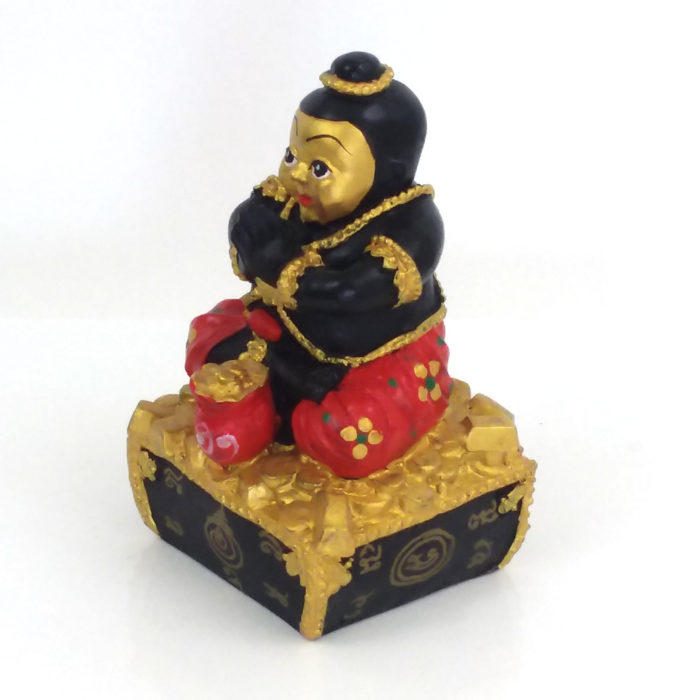LP Dit : blessed 5 inch Kuman Thong statue – THAI VOODOO for love & money luck 2