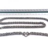 Stainless steel Thai amulet Chain for five amulets, 30 in