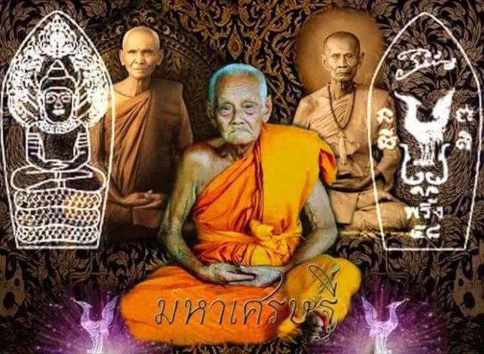 LP Phin : bronze Khun Paen statue - THAI VOODOO for love & money luck, protection
