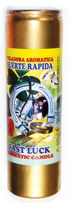 Fast Luck (suerte Rapida) Aromatic Jar Candle (gold Painted)
