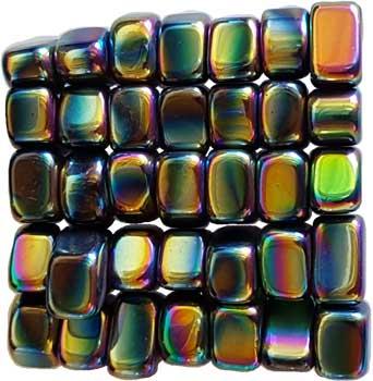1 Lb Magnetic Hematite Rainbow Tumbled Stones