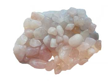 1 Lb Rose Quartz Tumbled Stones